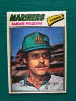 1977 Topps Cloth Sticker DAVE PAGAN Mariners Baseball Card #35 SET BREAK NM-MT