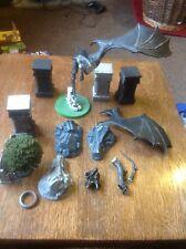 Nazgul, Ringwraith On Fell Beast & Scenery, Ruins. Games Workshop. Metal