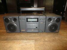 Vintage Sony CFD-757 Boombox CD AM/FM Radio Cassette Detachable Speaker