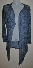 FLOWER Blue Mesh Patterned Long Sleeve Cardigan Size 14 Large L