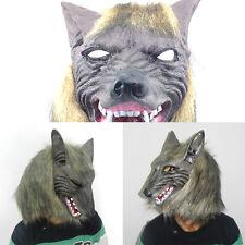Latex Masque Loup Réaliste Loup Garou Horreur Halloween Costume Déguisement Neuf