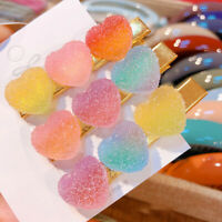 Cute Candy Hair Pin Girls Heart Shape Hair Clips Hair Accessories Hairgrip WoA8A