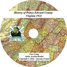 1922 History of PRINCE EDWARD County Virginia VA