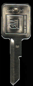 Briggs & Stratton Chevrolet 1 1969 1973 1977 1981 GM E Key Blank with knockout
