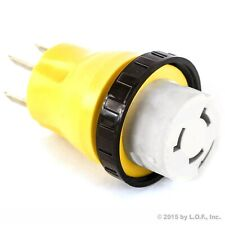 MagiDeal RV Camper 125V//50A RV Replacement Male Plug with Yellow Grip Handle