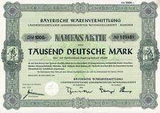 Bayerische Warenvermittlung, Namensaktie, 1000 DM-9/1966