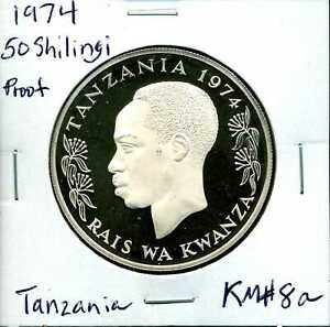 Tanzania 1974 Gem Proof 50 Shilingi Sterling Silver KM#8a #02386