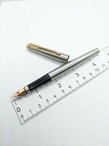 VTG steel flighter  PARKER 75 Fountain Pen - 14k x nib - USA