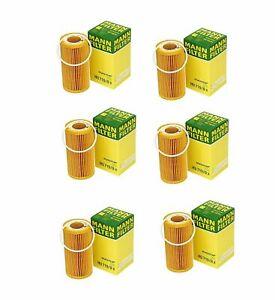 For Volvo C30 C70 S40 S60 V50 V60 2004-2013 6 Oil Filters MANN-FILTER 8692305