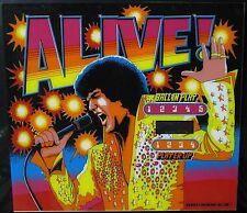 VINTAGE 1978 ALIVE PINBALL MACHINE BACKGLASS ELVIS MID MOD INTERIOR DECORATE HIP