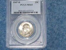 1947-D Washington Silver Quarter Gem BU PCGS MS65 E0037