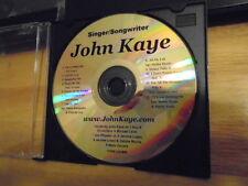 RARE PROMO John Kaye DEMO CD singer songwriter pop r&b Jerome Lopez hawaii 12trx