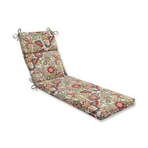 Pillow Perfect Outdoor/Indoor New Zoe Citrus Chaise Lounge Cushion $109