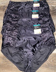 Bali 3-Pair Womens Brief Underwear Panties Nylon Blend Cooling Support ~ 2X/9