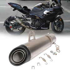 Universal 51mm Motorcycle Exhaust Muffler Pipe Slip on For Kawasaki Ninja400