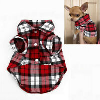 Pet Cat Dog Clothes for Puppy Chihuahua Summer Dog Vest Plaid Shirts T shirt New