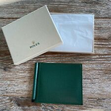 ROLEX MEN'S GREEN LEATHER CARD & BILL WALLET AUTHENTIC ORIGINAL *RARE*