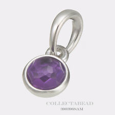 Authentic Pandora Silver February Synthetic Amethyst Droplet Pendant 390396SAM