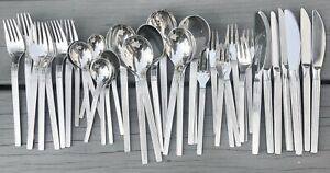 42pcs WMF SIENNA Stainless Flatware Knife Forks Spoons Ridges GERMANY EUC