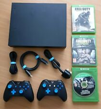 Microsoft Xbox One X 1TB Black Console with 2 CUSTOM Controllers and 3 Games