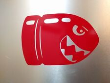"""4 pack N64 SNES NES Mario Bullet Bill Gloss Red Decal Sticker 2"""" 3/4 x 1"""" 3/4"""