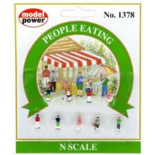 Model Power People Eating (9 figures) Ready to Use - 1378 - N Gauge