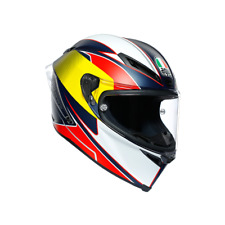AGV Corsa R Supersport Motorcycle Full Face Helmet - Blue / Red / Yellow