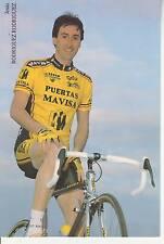 CYCLISME carte cycliste jesus RODRIGUEZ RODRIGUEZ équipe PUERTAS MAVISA 1992