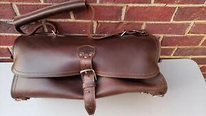 Saddleback Leather Dark Coffee Brown Duffel Bag
