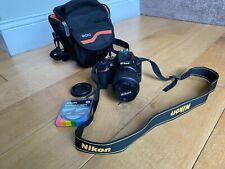 Nikon D D5500 24.2MP Digital SLR Camera - Black with Nikkor 18-55mm Lens