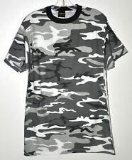 Stripes Gray, Black, and White Camo Short Sleeve T-Shirt Sz Large NWOT