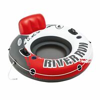 "Intex River Run 1 53"" Inflatable Floating Water Tube Lake Pool Ocean Raft, Red"