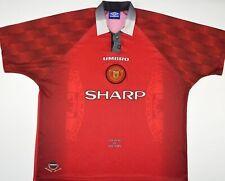 1996-1998 MANCHESTER UNITED UMBRO HOME FOOTBALL SHIRT (SIZE XXL)
