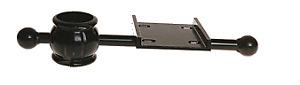 MB-B-001 Single Decorative Mailbox Bracket - Post Mount, Cast Aluminum