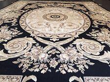 Seiden Teppich Carpet Schwarz 230x160 medusa versac Perser Orient barock rug Neu