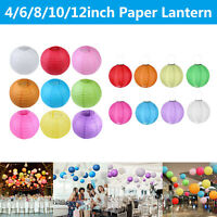DIY Round Chinese Paper Lantern Wedding Party Festival Decor Hanging Ball Lamp