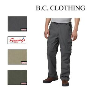SALE! BC Clothing Mens Convertible Stretch Cargo Hiking Active Pants Shorts  G23