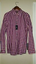 HUGO BOSS BLACK LABEL REGULAR $145 red checked LOK 2 sport shirt XL NWT