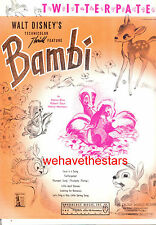 "BAMBI Sheet Music ""Twitterpated"" Disney Animation"