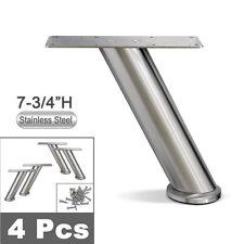 Stainless Steel Sofa Legs, Furniture Legs, Round Tube, Angeled - 4pcs Set