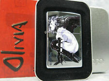 Zippo Olivia BANSHEE Sexy Color Printed Polished Chrome Lighter 2006 NIB Tattoo