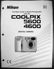 Nikon CoolPix 4600 5600 Digital Camera User Guide Instruction  Manual