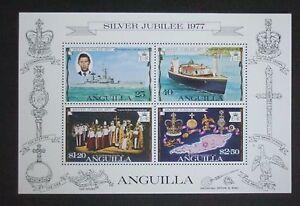 Anguilla 1977 Silver Jubilee MS Miniature Sheet MNH UM unmounted mint