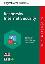 Kaspersky Internet Security 2018 / 3 Gerät / PC 1 Jahr Vollversion Lizenz Key