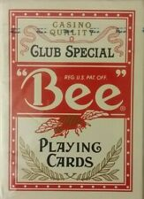 NEW SEALED CASINO QUALITY CLUB SPECIAL BEE PLAYING CARDS DECK