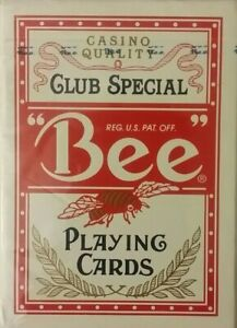 BRAND NEW SEALED CASINO QUALITY CLUB SPECIAL BEE PLAYING CARDS DECK
