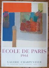 LESIEUR Pierre Affiche originale Lithographie 1961 Ecole de Paris Mourlot