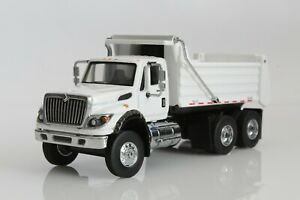 International WorkStar Dump Truck, 1:64 Scale Diecast Model, White, SD Trucks