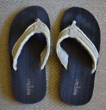 Mossimo Flip Flops Sandals Beige Canvas Size 6
