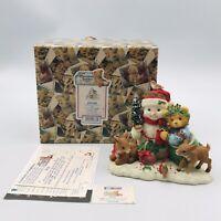 1999 Cherished Teddies Star Snowman & Friends Figurine 534250 Deer Limited